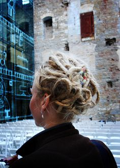 #dreads up-do. wonder if I could get mine to do this?:)