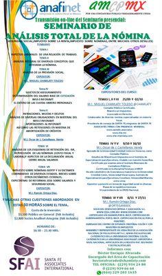 """APROVECHA 2X1""""TRANSMISIÓN ONLINE DEL SEMINARIO: DE ANÁLISIS TOTAL DE LA NÓMINA"""" http://actualizandome.com/th_event/transmision-online-del-seminario-presencial-seminario-de-analisis-total-de-la-nomina/?utm_content=bufferb58a8&utm_medium=social&utm_source=pinterest.com&utm_campaign=buffer  #FB #CPTWITTER"""