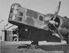 French medium bomber Bloch MB.210 night at the airport