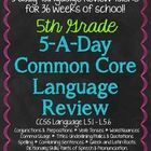 "This resource is designed to be used on a daily basis (Monday-Thursday) for up to 36 weeks. Each week has 20 (""5 a Day"") language-skills tasks tha..."