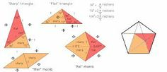 kite and dart Geometric Quilt, Geometric Art, Penrose Tiling, Millefiori Quilts, Origami, English Paper Piecing, Paper Folding, Elementary Art, Sacred Geometry