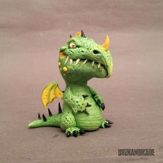 Dragon 45  ORIGINAL Sculpture  polymer CLAY  3D di Buzhandmade