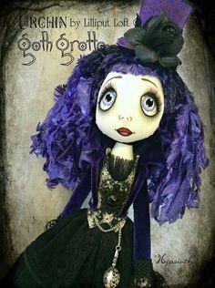 'Hyacinth' Urchin Goth Grotto art doll by Vicki @ Lilliput Loft