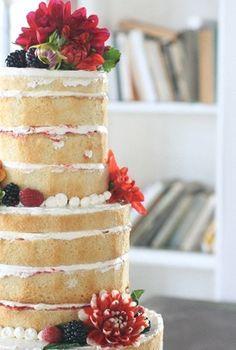 Strawberry short cake wedding cake