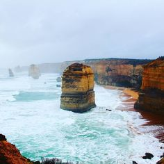 #12apostles in front of us... it's extremely amazing #waves and #winds sharp #rocks #GreatOceanRoad #VIC #Australia #Oceania #travel by reichenyoo http://ift.tt/1ijk11S