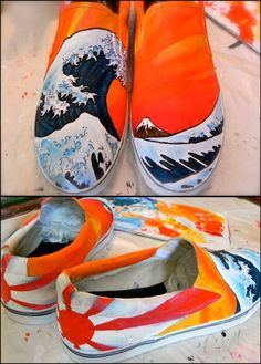 Awesome Custom Painted Shoes by AshKetchmm by Cybercute on Etsy