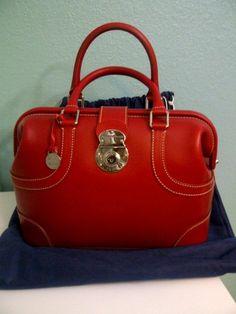 Dooney & Bourke Red Alto Doctor Satchel handbag Rare Find! | eBay