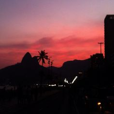 Pink Sunset in Rio - @chmarra- #webstagram