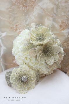 seed bead bridal bouquet by mathepplestone on Etsy, $600.00