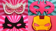 Hey, I found this really awesome Etsy listing at https://www.etsy.com/uk/listing/270895163/girls-superhero-felt-mask-pack