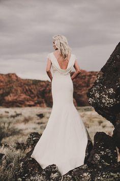 Boho wedding dresses + Modern Bridal separates for cool brides Bohemian Wedding Dresses, Designer Wedding Dresses, Wedding Gowns, Wedding Day, Bridal Jumpsuit, Bridal Separates, Real Couples, Bridal Boutique, Frocks