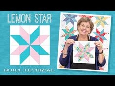 """Make a """"Lemon Star"""" Quilt with Jenny Doan of Missouri Star (Video Tutorial) – Famous Last Words Star Quilt Blocks, Star Quilt Patterns, Star Quilts, Missouri Star Quilt Pattern, Star Wars Quilt, Block Patterns, Missouri Quilt Tutorials, Quilting Tutorials, Quilting Designs"""
