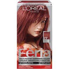 L'oreal Paris L'or Al Paris Feria Shimmering Haircolour Gel Auburn Feria Hair Color, Hair Color Auburn, Auburn Hair, Auburn Red, Long Natural Hair, Natural Hair Styles, Long Hair Styles, Blonde Long Layers, Caramel Blonde Hair