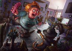 Amazing Illustrations by Michal Dziekan   Abduzeedo Design Inspiration & Tutorials