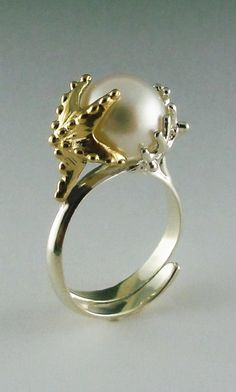 Pearl & Starfish Ring