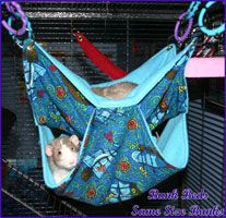 Preferably with metal chains and fasteners on top to attach to the cage, so my pet degus won't just chew the supports right off! Rat Hammock, Hammock Stand, Diy Rat Toys, Pet Rat Cages, Rat Cage Accessories, Rat Care, Hamsters, Gerbil, Chinchillas