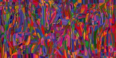 Andrea Mora title: Illuminated Garden (Version 2013) original size: 160 x 80 cm digital painting