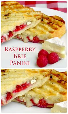 You might call this raspberry brie panini a posh grilled cheese but it's a versatile idea that's an indulgent lunch treat. I've even cut them into hors d'ouevre size for cocktail parties. They are always a big hit! Pizza Sandwich, Grilled Sandwich, Sandwich Recipes, Best Panini Recipes, Burritos, Paninis, Yummy Treats, Yummy Food, Tasty