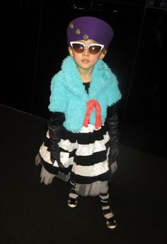 See this image and more on helenoppenheim.com: The most fantabulous kid I've seen so far at NY Fashion Week.  Photo: Helen Oppenheim