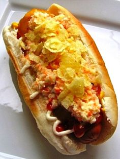 Colombian Hot Dogs best thing in the world