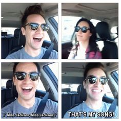 Brendon's so happy <3 XD
