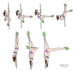 Learn How To Pole Dance From Home With Amber's Pole Dancing Course. Why Pay More For Pricy Pole Dance Schools? Pole Fitness Moves, Pole Dance Moves, Pole Dancing Fitness, Dance Gear, Fitness Exercises, Pole Classes, Belly Dancing Classes, Aerial Hoop, Aerial Arts