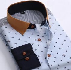 Cheap Dress Shirts, Buy Directly from China Suppliers:New Brand Mens Dress Shirt Long Sleeve Cotton Male Business Casual Printed Fashion Formal Shirts Slim Masculina CamisaUS