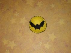 Felt Brooch Bat in Front of the Moon by melsumn1 on Etsy, $15.00