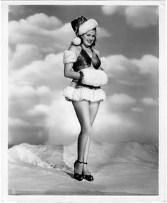 vintage everyday: 30 Vintage Hollywood Starlet Christmas Pin-up Photos Janis Page