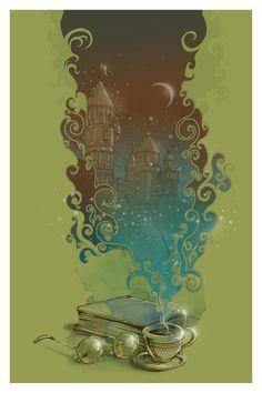 A Fantastic World From A Cup Of Tea by Lucas de Alcântara Borges Teixeira