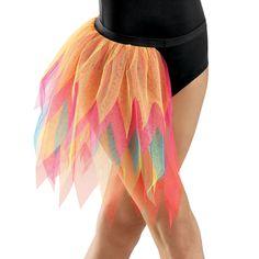 Solo costume ideas - Colorful Layered Bustle Dance Skirt; Balera