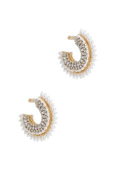 Mini Pearl Fiona Hoops by Mignonne Gavigan for $40 | Rent the Runway