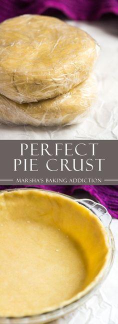 The Perfect Pie Crust   marshasbakingaddiction.com @marshasbakeblog