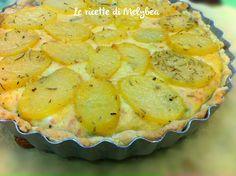 torta salata con patate e zucchine