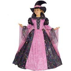 Halloween Costume Girls Witch Deluxe Good Pink Black Hat Size 4/6 #DressUpAmerica