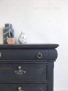 How To Distress Painted Furniture with Full Tutorial