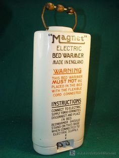 MAGNET ELECTRIC BED WARMER - ENGLAND -AÑOS 1900´S -PIEZA RARISIMA - CALENTADOR ELECTRICO - PORCELANA.  estalcon@gmail.com