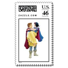 Disney Snow White and Prince Postage Stamps