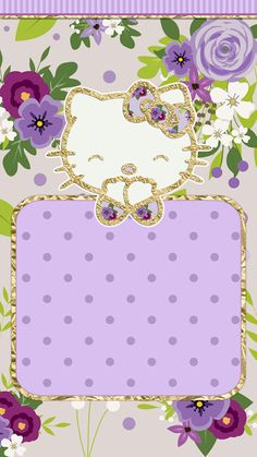 #purple_dreams #wallpaper #iphone #cutewalls #hello_kitty