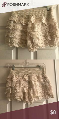 Selling this crochet shorts on Poshmark! My username is: rdb0722. #shopmycloset #poshmark #fashion #shopping #style #forsale #Forever 21 #Pants