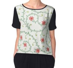 « Ornement floral », Tops Mousseline par Liloographie   Redbubble