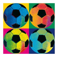 Ball Four: Soccer Prints - AllPosters.co.uk