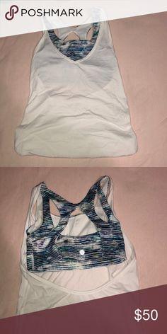 d6d2b0d89 LULULEMON SHIRT W  BUILT IN SPORTS BRA Never worn Lululemon shirt with  built in sports