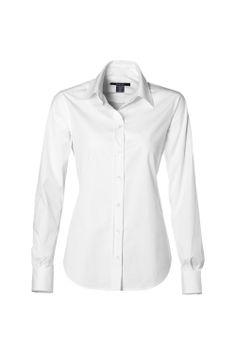 Gant - Bluse aus Stretch Baumwoll-Popeline mit Kentkragen (Größe 36 - 44)