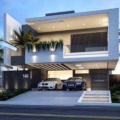 Super home architecture ideas arquitetura ideas Bungalow House Design, House Front Design, Modern House Design, Villa Design, Facade Design, Exterior Design, Modern Architecture House, Architecture Design, Luxury Homes Dream Houses