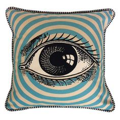 Eye Pillow 18x18, $28, now featured on Fab.  By Prop & Pop Fun, Funky Accent Pillows