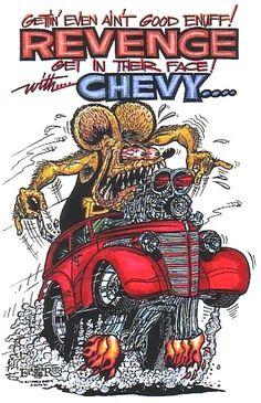 Revenge! ☮ Art by Ed Roth ~ Rat Fink! ~ ☮レ o √乇 ❥ L❃ve ☮~ღ~*~*✿⊱☮ ---