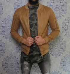 Brown suede bomber jacket €54,99 #urban #street #fashion #clothing #mens #men…