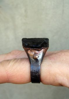 Black Tourmaline Ring Protecting Grounding by SilviasCreations, $79.00