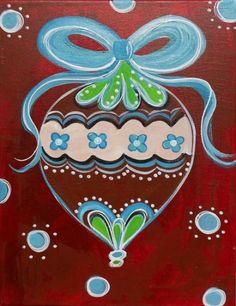 .Christmas ornament canvas